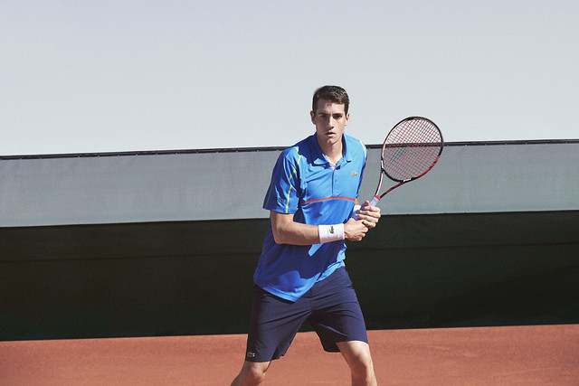 008 LACOSTE John Isner Tenue Roland Garros 2014 © CBerlet