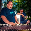 Josh Curl and Sean Clark working the sound board at a summer concert on the Washington County courthouse lawn. #ondragontime #southernillinois #soill #618 #nashvilleil #music #washingtoncountyil #livemusic