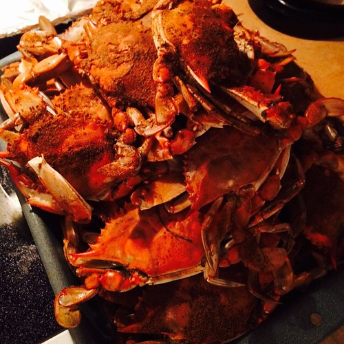 May not be swimming this trip but we're eating well. Crabs done right. #marylandgirl