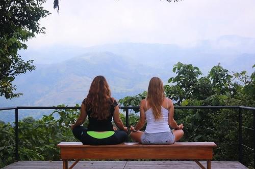 Costa Rica- Yoga for Every Soul Villa Blanca Meditating - View