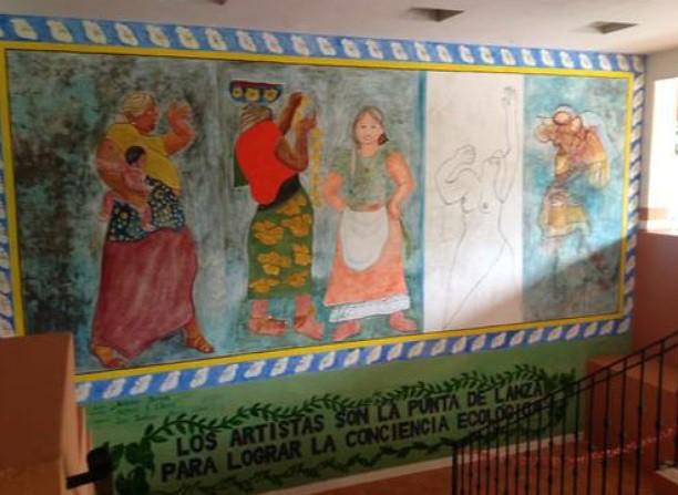 Inauguran en Juchitán mural en honor a cultura y mujeres zapotecas