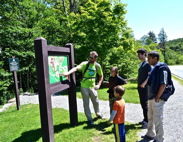 beginning of spruce loop hike - stowe vermont