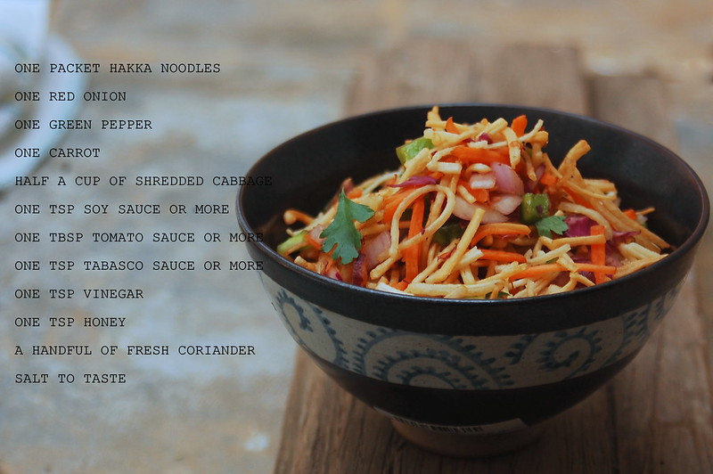 Chinese Bhel Ingredients