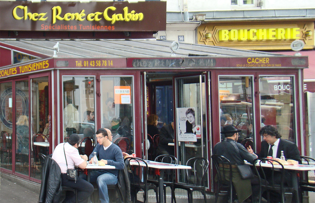 kosher Tunisian restaurant, boulevard de Belleville, Paris,