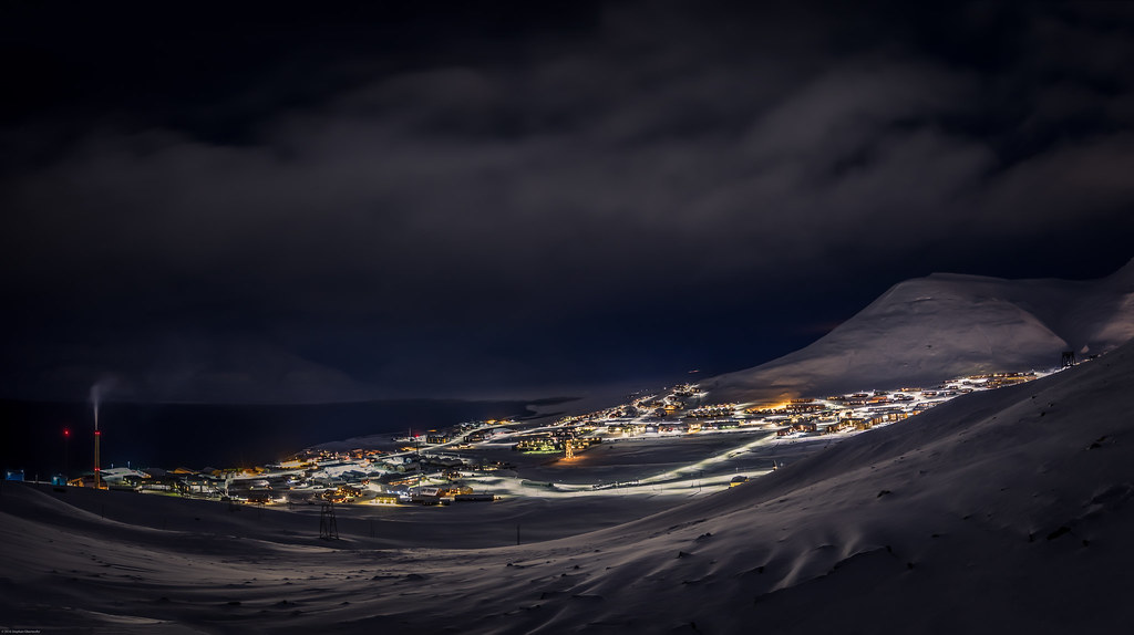 Longyearbyen city lights