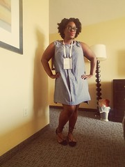 @colettepatterns #sorbettotank view 2 lengthened to a dress