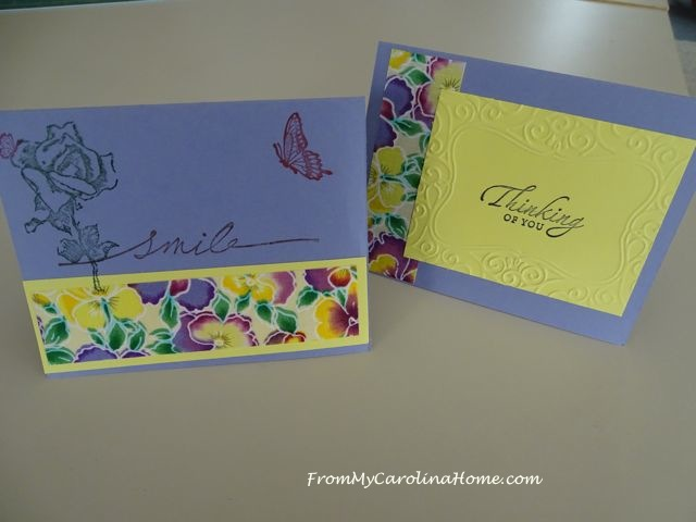 Stamping Cards at From My Carolina Home