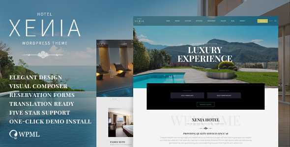 Hotel Xenia WordPress Theme free download