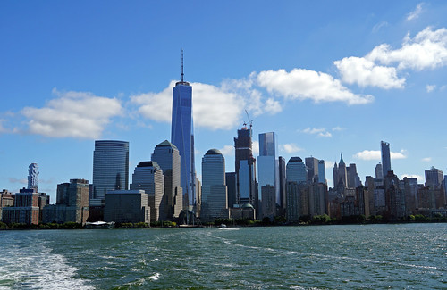 Lower Manhattan - view from NY Waterway Ferry