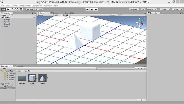 unity cube and pyramid