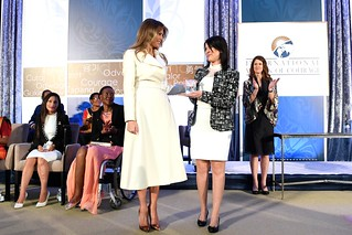 First Lady Melania Trump Presents the International Women of Courage Award to Cindy Arlette Contreras Bautista of Peru