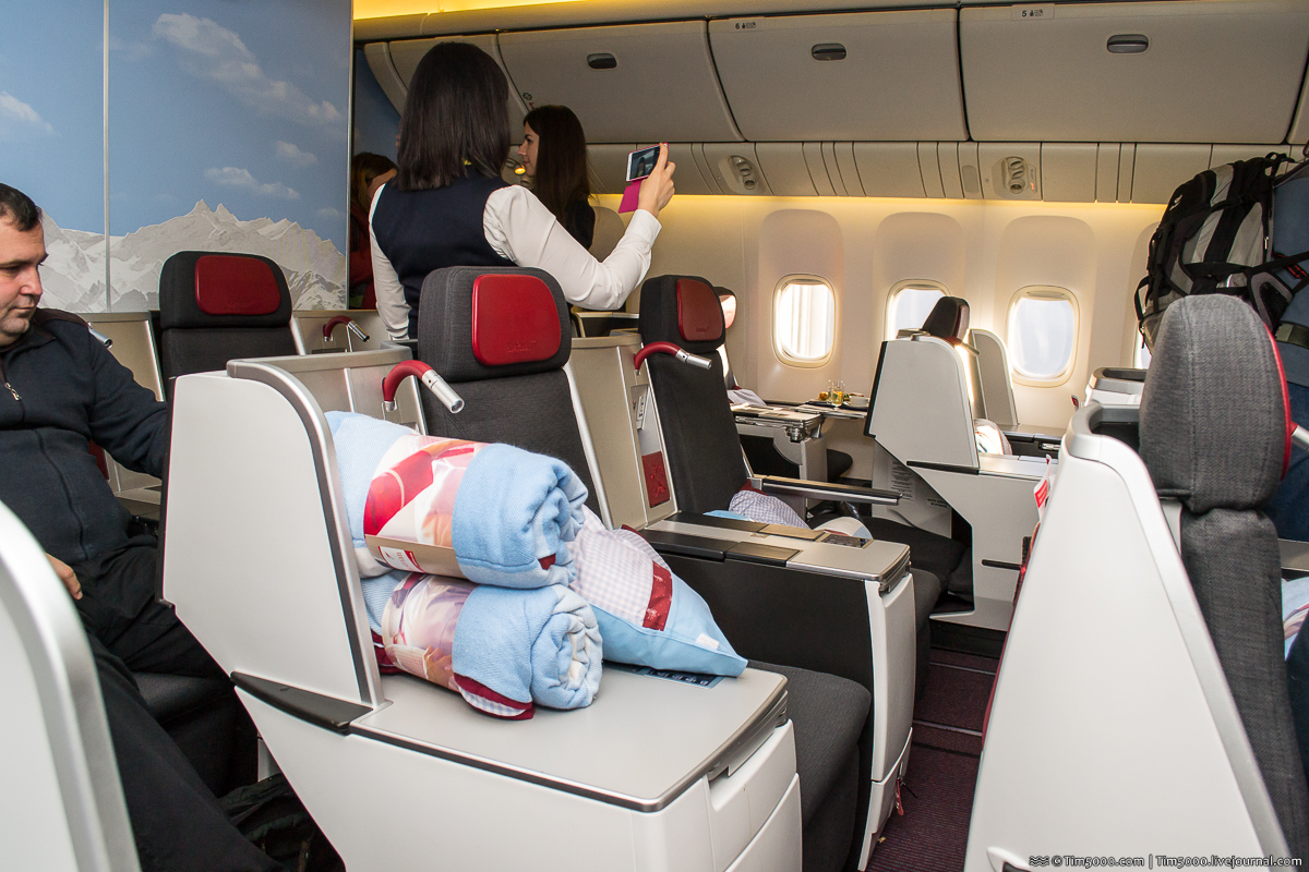 Бизнес-класс Austrian Airlines в Boeing 777
