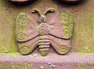 Schmetterling/Motte als Symbol der entschwebenden Seele aus dem Körper
