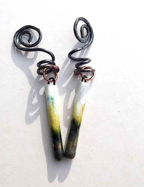 14 Gauge wire earrings ScorchedEarthon Etsy dangles