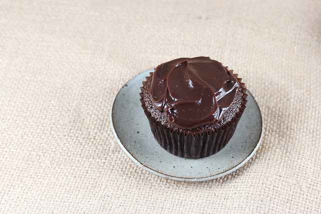 Chocolate Cinnamon Cupcakes with Chocolate Ganache
