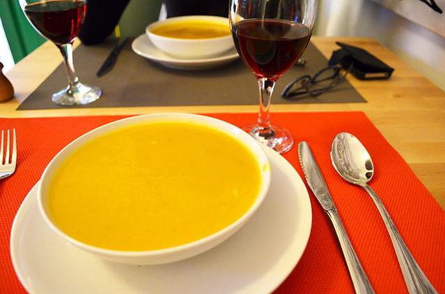 Calabacin soup, Casa del Caminero, Tejeda, Gran Canaria