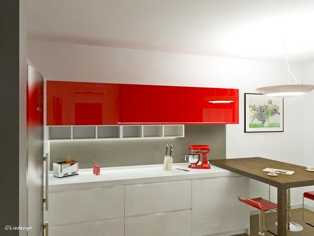 Cucine Moderne Rosse E Bianche. Cheap Cucine Moderne Foto Design Mag ...