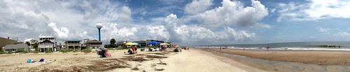 Tybee Beach Clouds Panorama