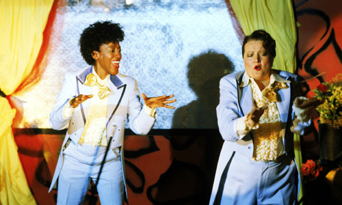 CCH Pounder and Marianne Sagebrecht dance a soft-shoe in Bagdad Café