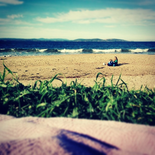 Exhausted, sick, missing Huz... But there are worse ways to spend the day #sunshine #beach #winter #instatassie