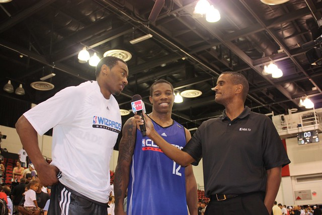 John Wall, Eric Bledsoe, David Aldridge - 2010 NBA Summer League