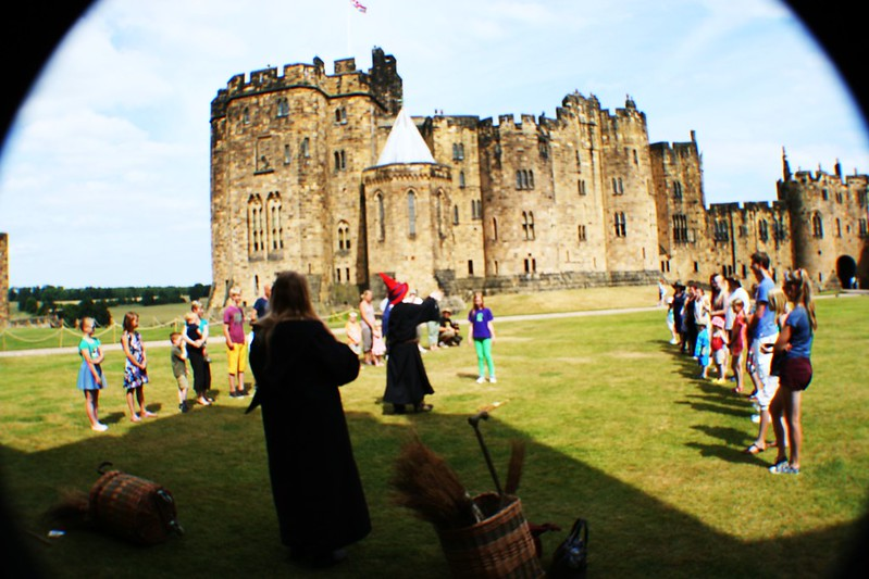 Broomstick flying lessons at Alnwick Castle, Northumberland