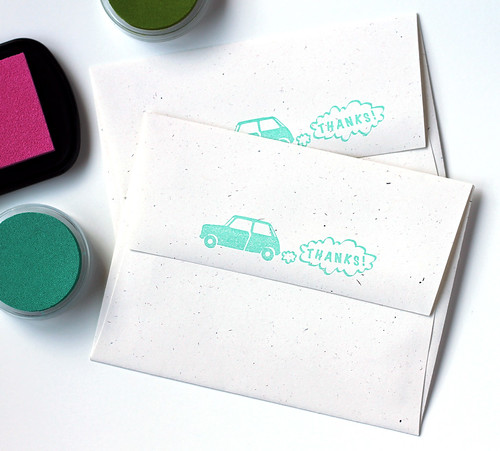 Mini Cooper Rubber Stamps