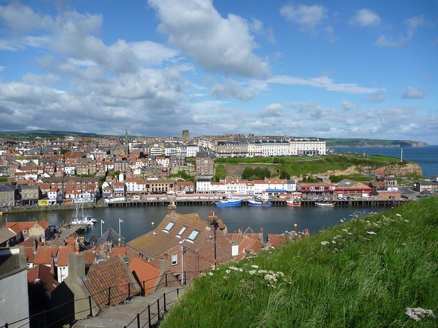 Whitby from the stairs to Abbey