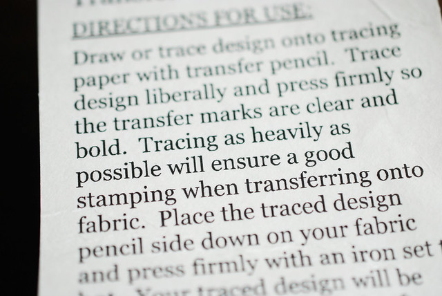 Wild Olive: supplies: hot iron transfer pencils