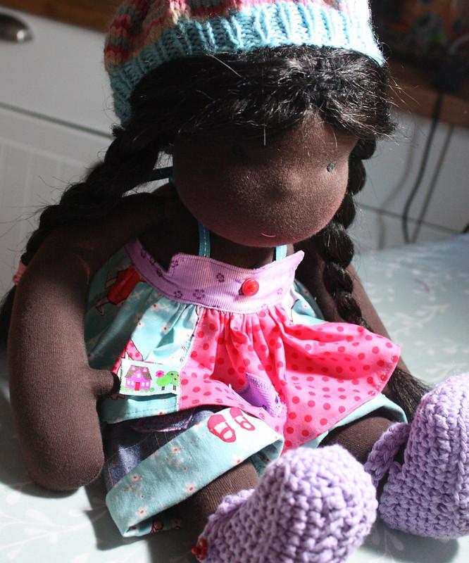 "Zinnia, a 16"" waldorf style doll"