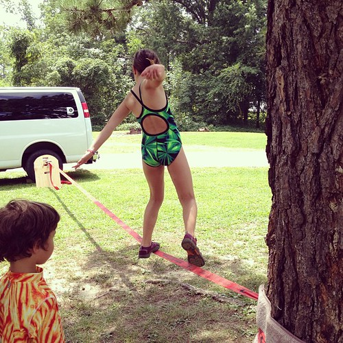 Slackline screen-free week