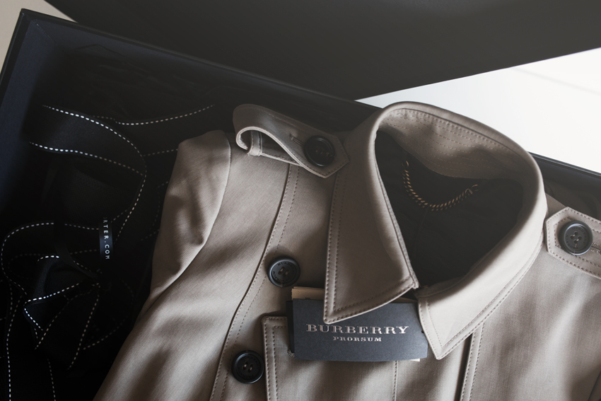 Burberry Prorsum Cotton Garbadine Mid Length Trench