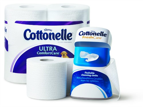 Ann Again and again talks bathroom habits and Cottonelle Cleansing Cloths P2-Cottonelle_4_Pack_Hug