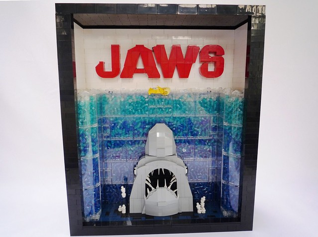 LEGO Jaws Movie Poster
