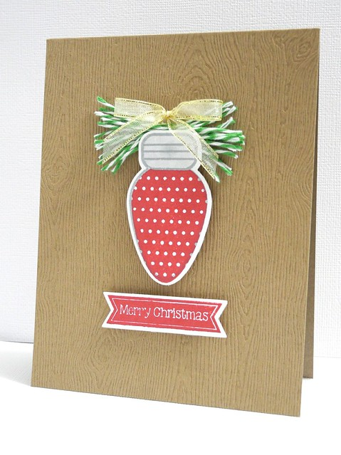 Merry Christmas Bulb on Branch