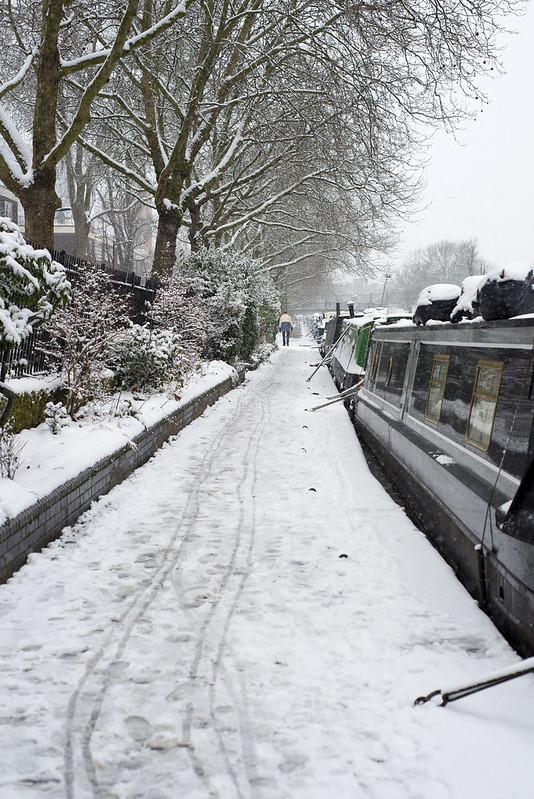 Snow in London, Little Venice / Maida Vale