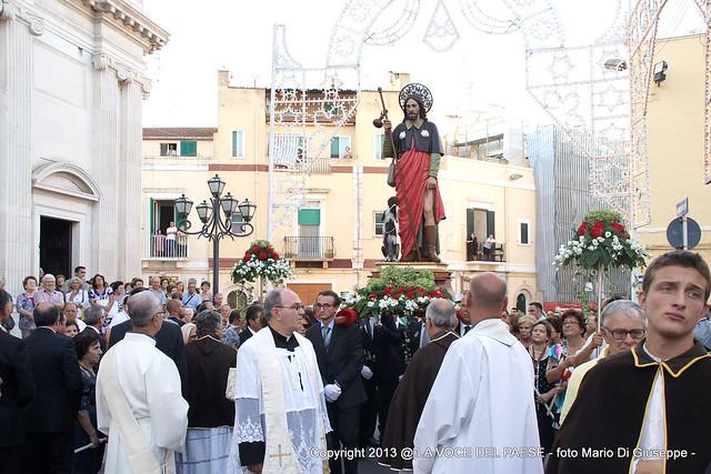 san rocco. messa e processione