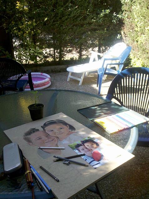 dibujando al aire libre