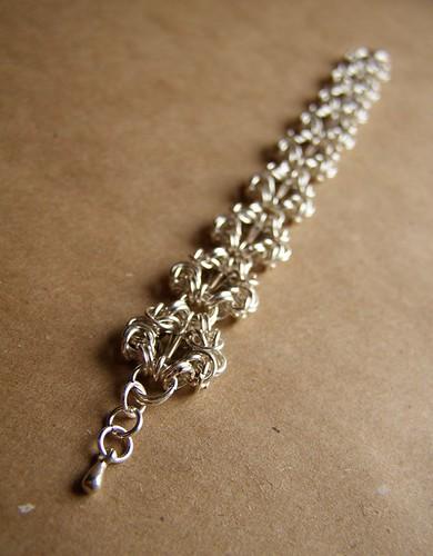 Bracelet - Smoky Crystal. Romanovskoe weaving.