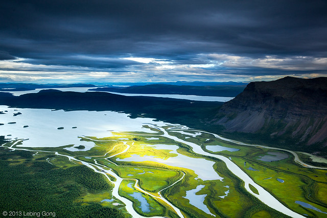 Rapadalen (Rapa Valley) and Lake Laitaure, Sarek National Park, Sweden