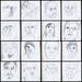 2 minute portraits ~ III by Gila Mosaics n'stuff