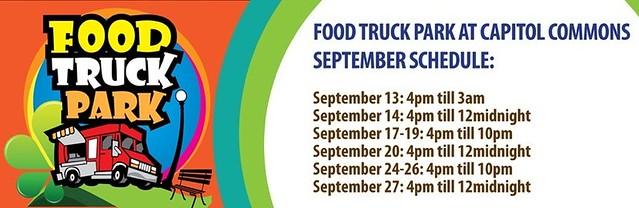 Food Truck Park Schedule