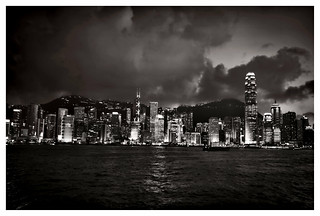victoria harbour by night EXPLORED