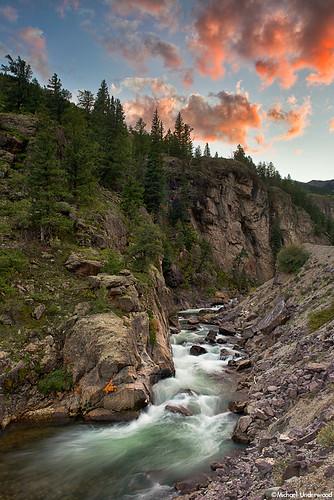 sunset water creek landscape colorado hindsdalecounty hensoncreek