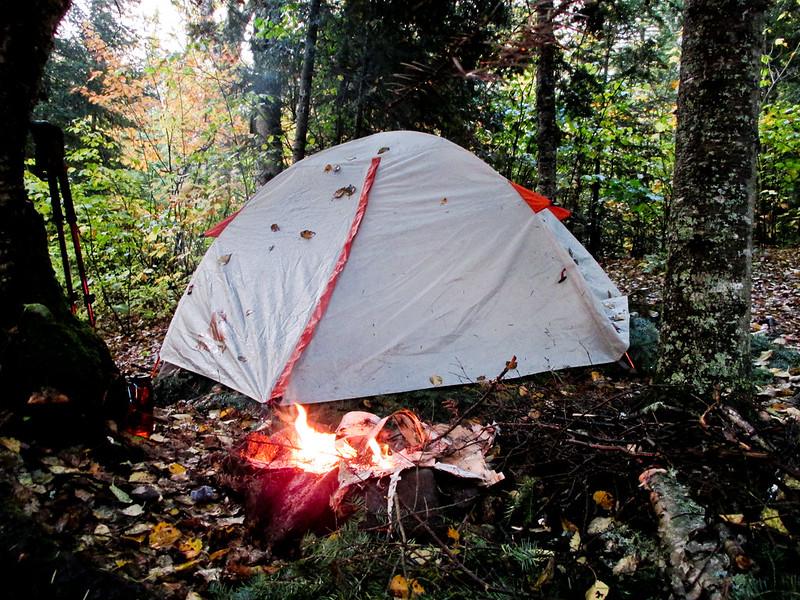 Rainy Tent on SHT