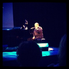 """The supremely talented DaveMcKean at the piano, taking us through a feast of sight & sound as part of """"9 Lives"""" graphic"""
