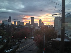 Seattle Sunset From the Living Room 10.07.13