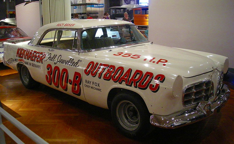 One of Kiekhaefer's Mercury Outboard race cars, currently at the Ford museum.