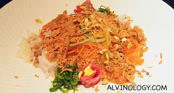 Tossed Japanese yusheng