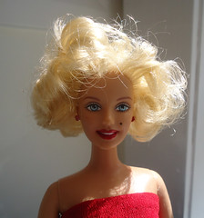 face, hairstyle, clothing, skin, head, hair, blond, wig, doll, barbie, toy,